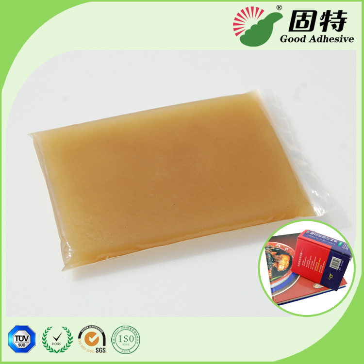 Gelatin resin Amber color Block solid Hot Melt Solid Animal Jelly Glue Used With Middle High Speed Machines