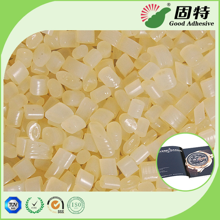 Light  Granule solid EVA resin Viscosity Resin Side Bookbinding Hot Melt Glue Yellowish Color For Coated Paper