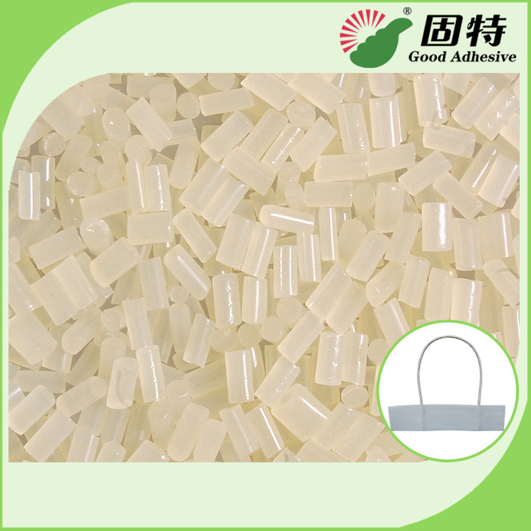 EVA White granule For Paper Rope Handle Hot Melt Glue Adhesive  Paper Handbags Wrist rope EVA hot melt adhesive