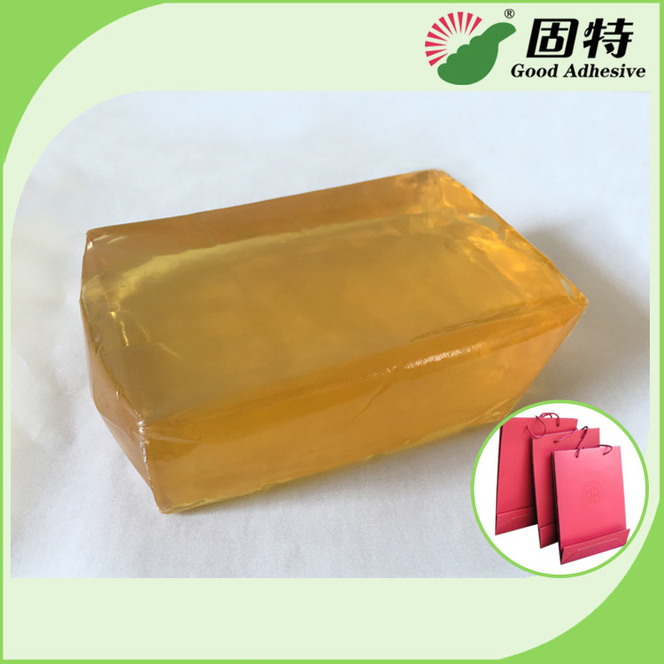Polyolefin Light And Semi-Transparent Block Solid Hot Melt Glue For Making Paper Bag